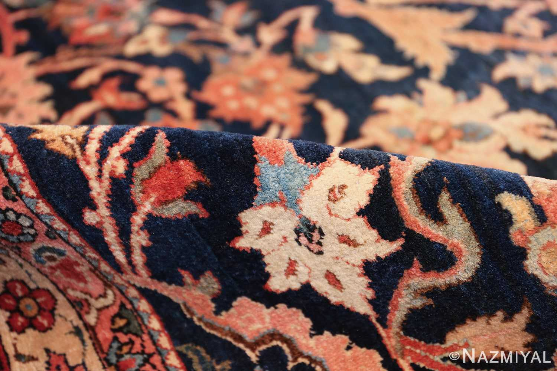 vintage navy color persian bidjar rug 46734 pile Nazmiyal