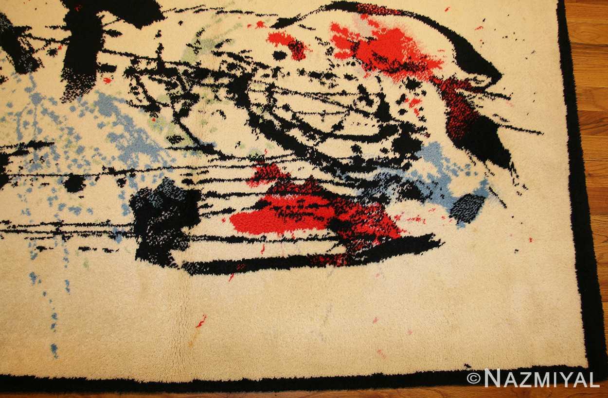 vintage scandinavian deco rug by Ege 47036 border Nazmiyal
