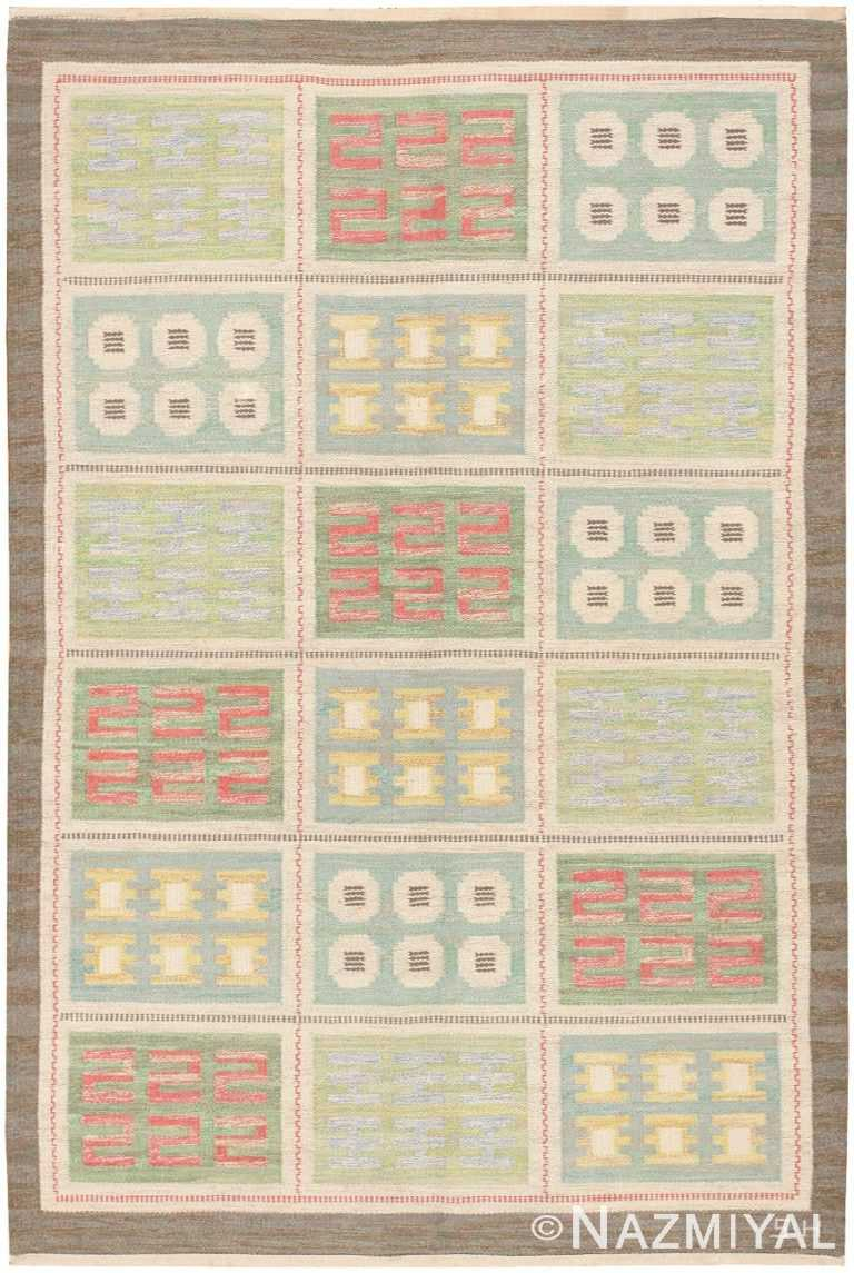 Vintage Scandinavian Swedish Rug 47006 Nazmiyal Antique Rugs