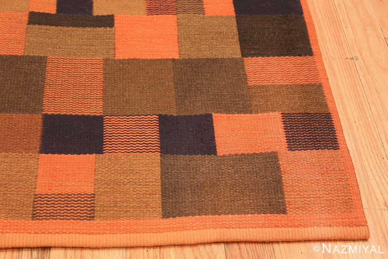 Vintage Scandinavian Rug by Ingrid Dessau 47031 Side Corner Nazmiyal