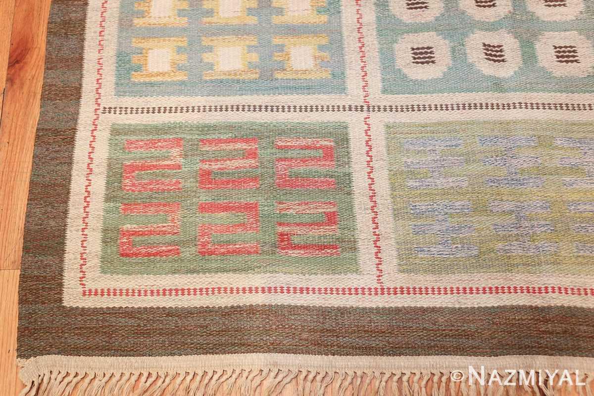 vintage scandinavian swedish rug 47006 corner Nazmiyal