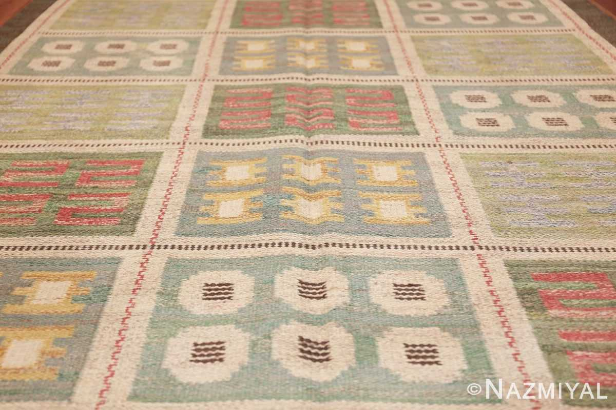 vintage scandinavian swedish rug 47006 field Nazmiyal