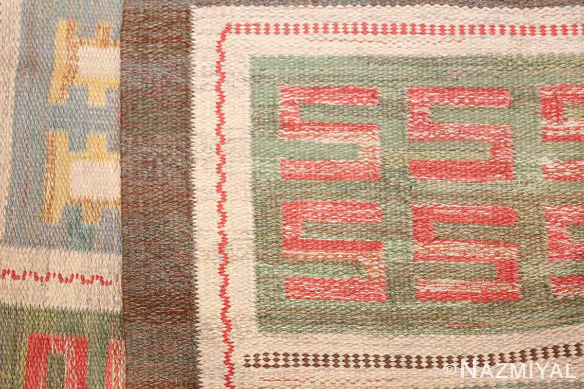 vintage scandinavian swedish rug 47006 knots Nazmiyal