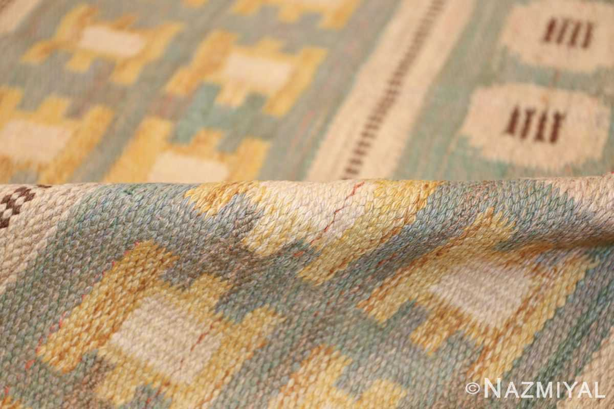 vintage scandinavian swedish rug 47006 pile Nazmiyal