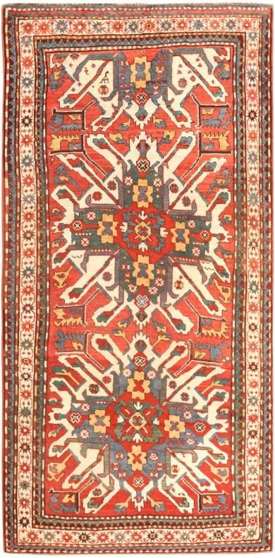 Antique Eagle Kazak Rug by Nazmiyal