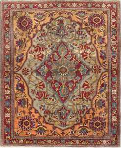 Antique Mohtashem Kashan Persian Rug 47047 by Nazmiyal
