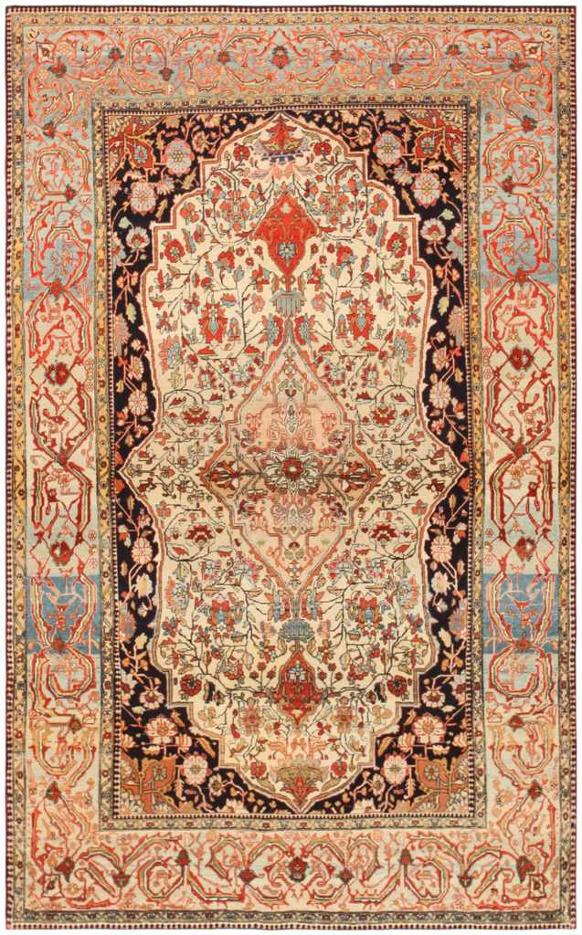 Antique Mohtashem Kashan Carpet By Nazmiyal