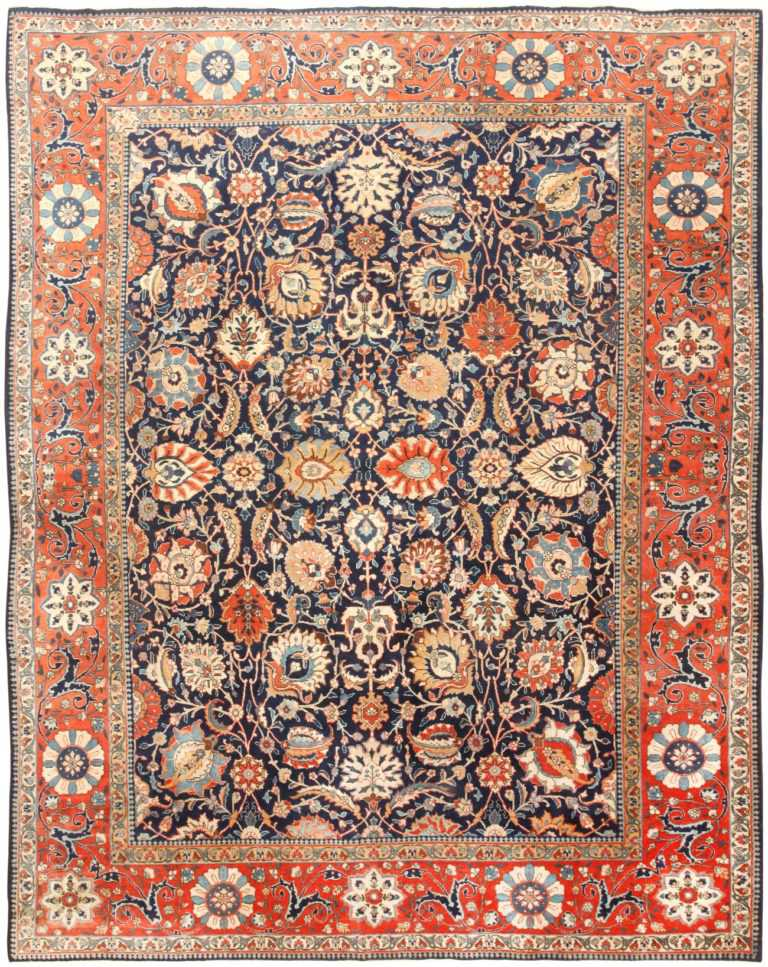 Antique Persian Tabriz Rug 47064 Detail/Large View