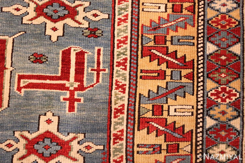 antique caucasian karakashly rug 47061 closeup Nazmiyal