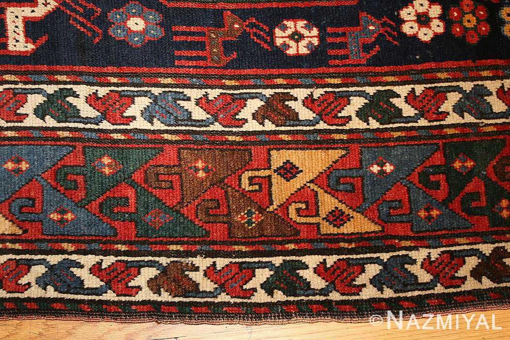 antique caucasian kazak rug 47070 detail Nazmiyal