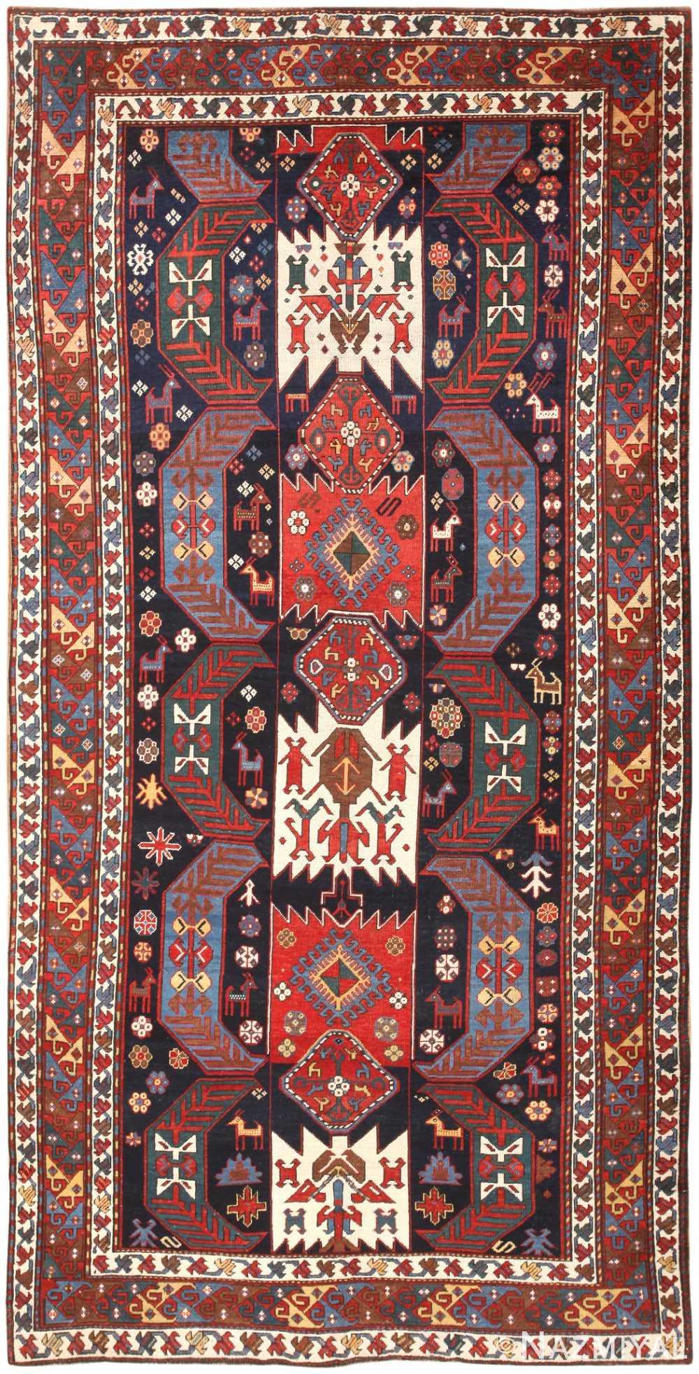Antique Caucasian Kazak Rug 47070 Nazmiyal