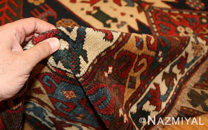 antique caucasian kazak rug 47070 pile Nazmiyal