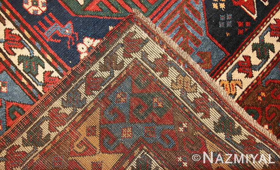 antique caucasian kazak rug 47070 weave Nazmiyal