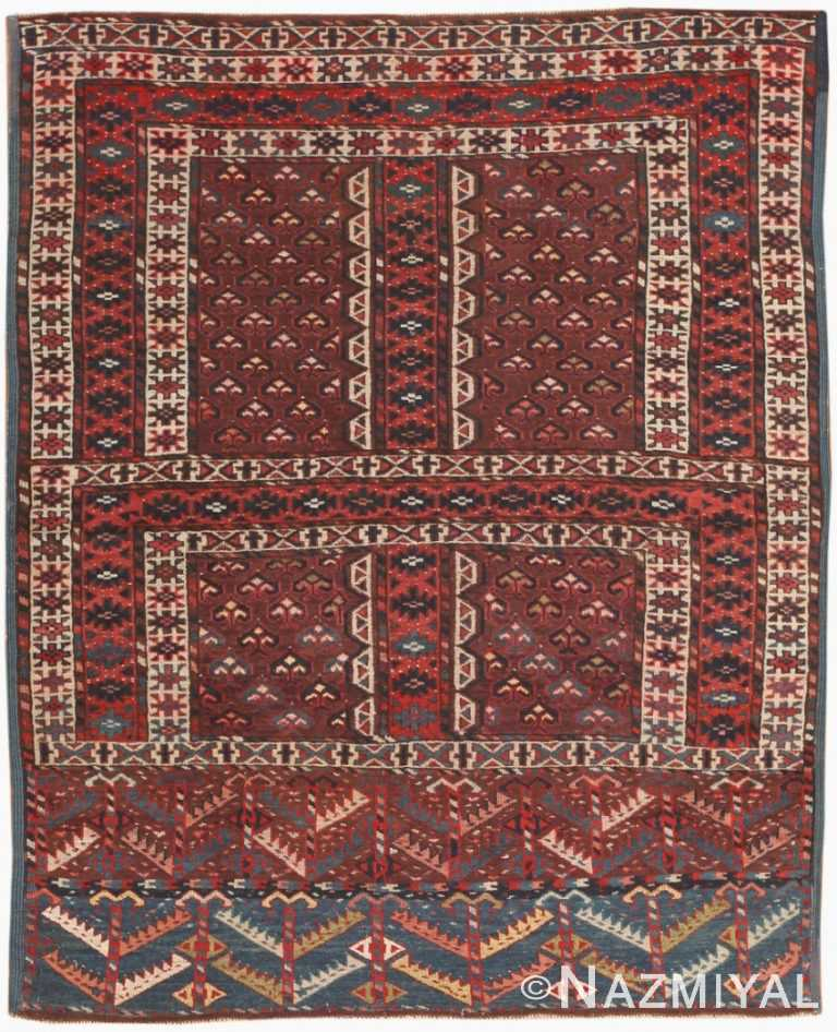 Antique East Turkestan Yamout Rug 47068 Nazmiyal