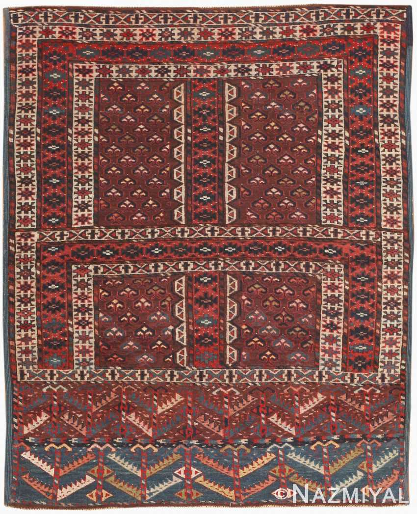 Antique East Turkestan Yamout Rug 47068 Nazmiyal