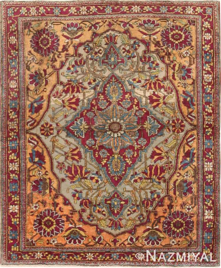 Antique Mohtashem Kashan Persian Rug 47047 by Nazmiyal