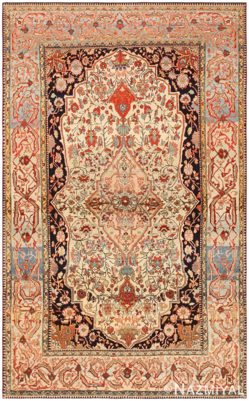 New Antique Persian Mohtashem Kashan Rug 47051 Nazmiyal NY XN81