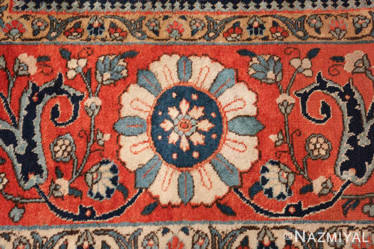 antique persian tabriz rug 47064 blue Nazmiyal