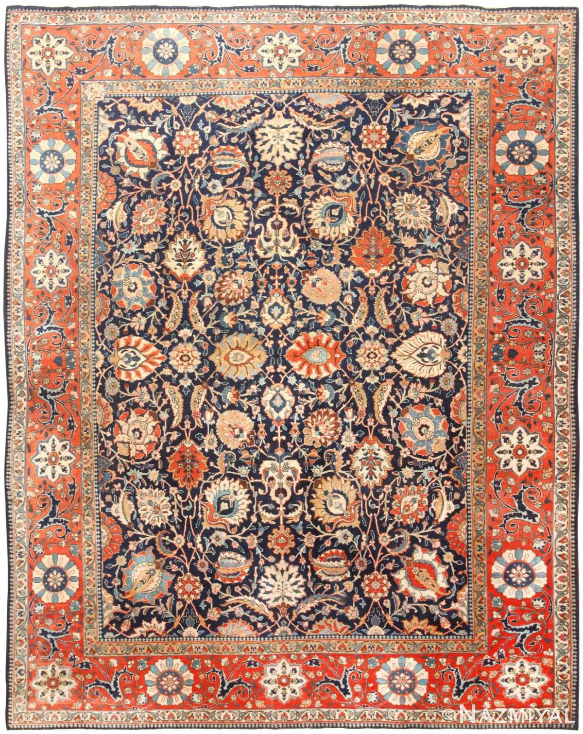 Antique Persian Tabriz Rug 47064 Detail/Large View