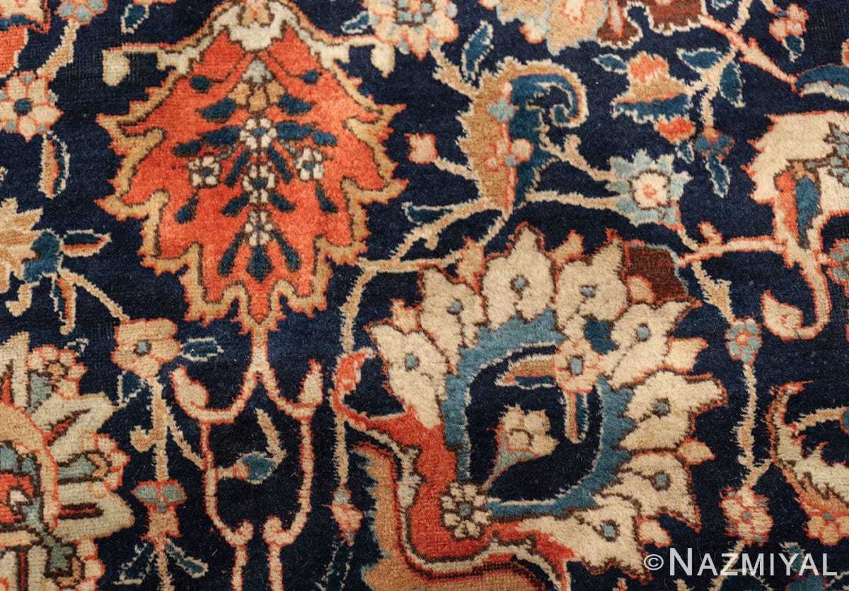 antique persian tabriz rug 47064 flower Nazmiyal