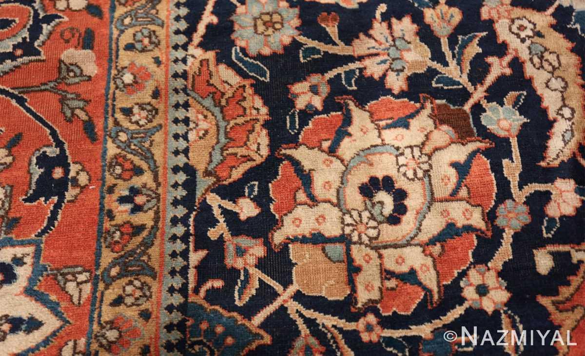 antique persian tabriz rug 47064 leaf Nazmiyal
