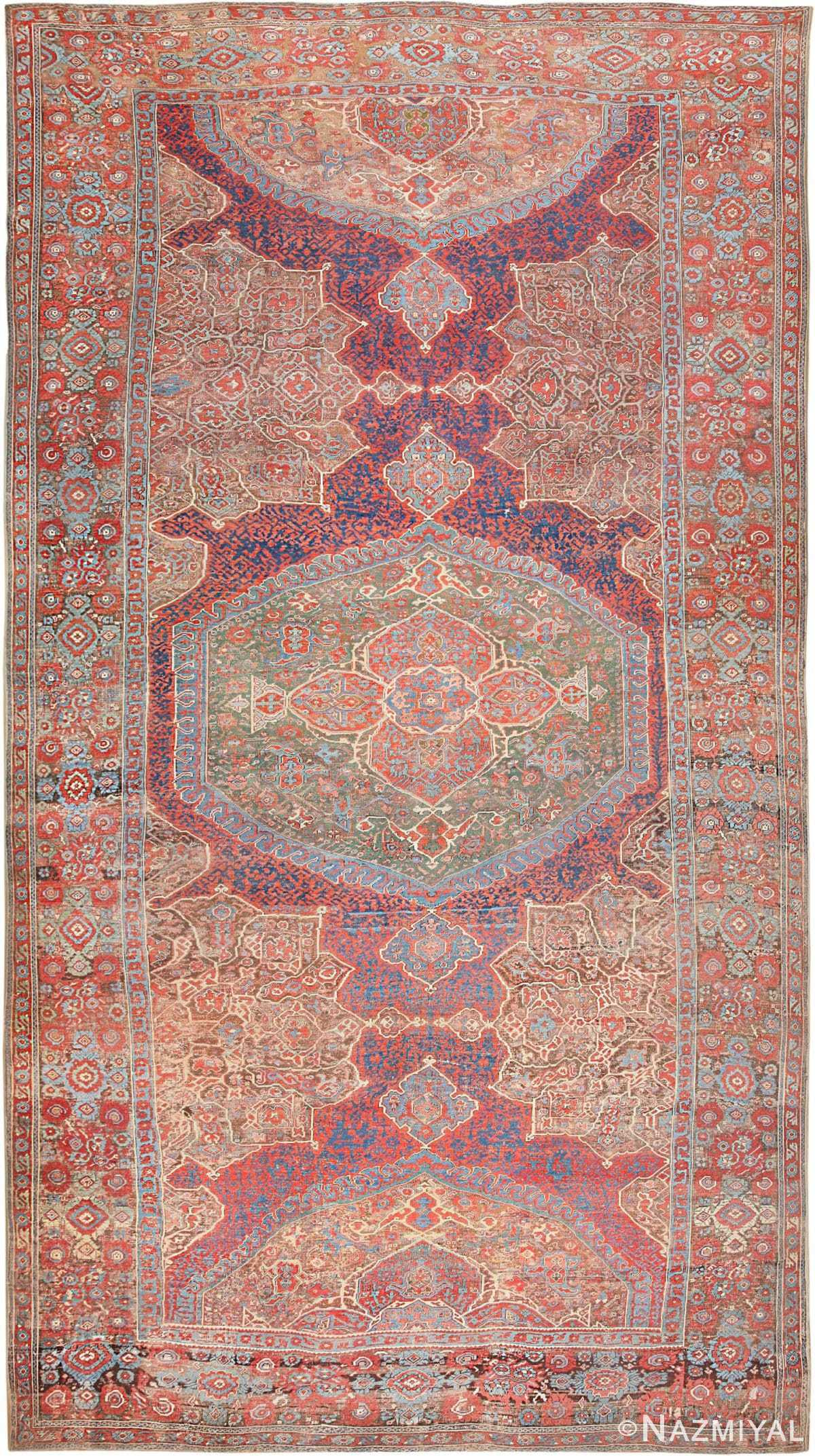 Antique Smyrna Oushak Carpet 47072 Nazmiyal