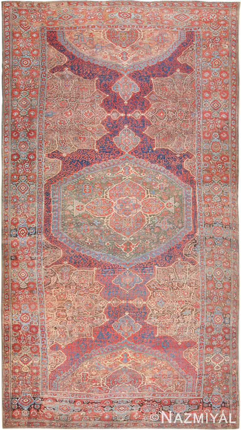 Antique Smyrna Oushak Carpet 47072 Nazmiyal