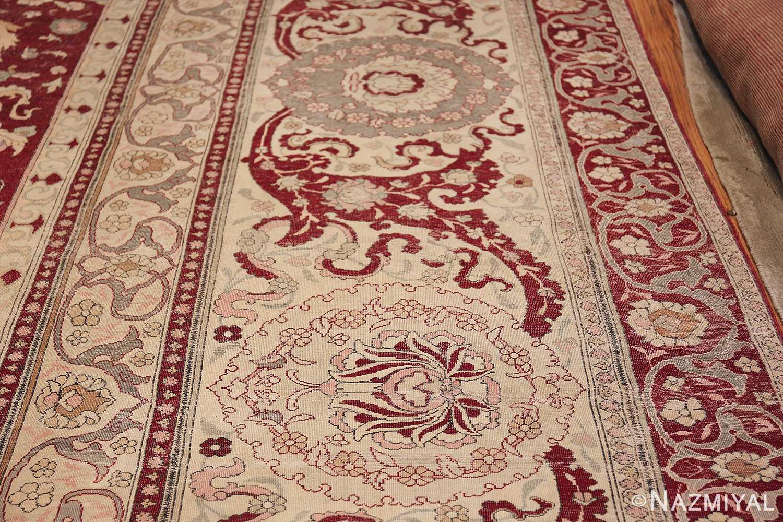 Antique Turkish Hereke Rug 45620 Border Design Nazmiyal