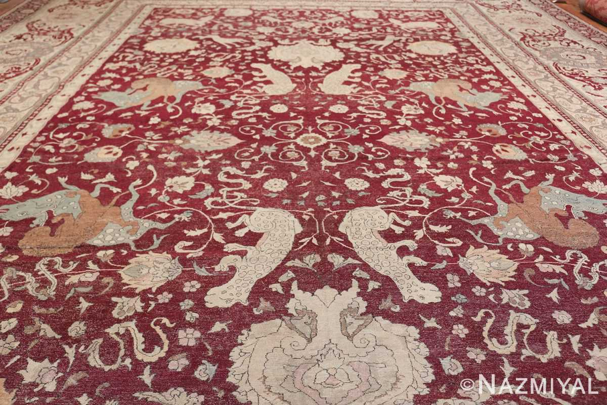 Antique Turkish Hereke Rug 45620 Field Design Nazmiyal