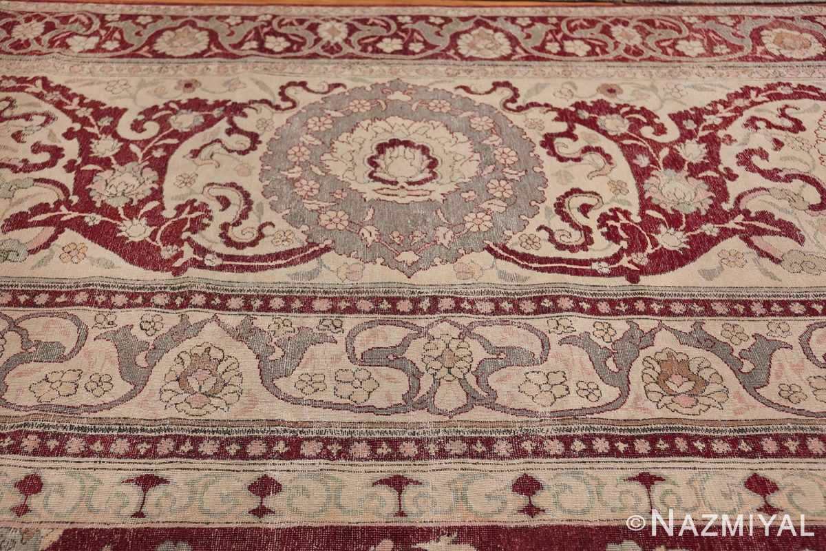 Antique Turkish Hereke Rug 45620 Horizontal Border Nazmiyal