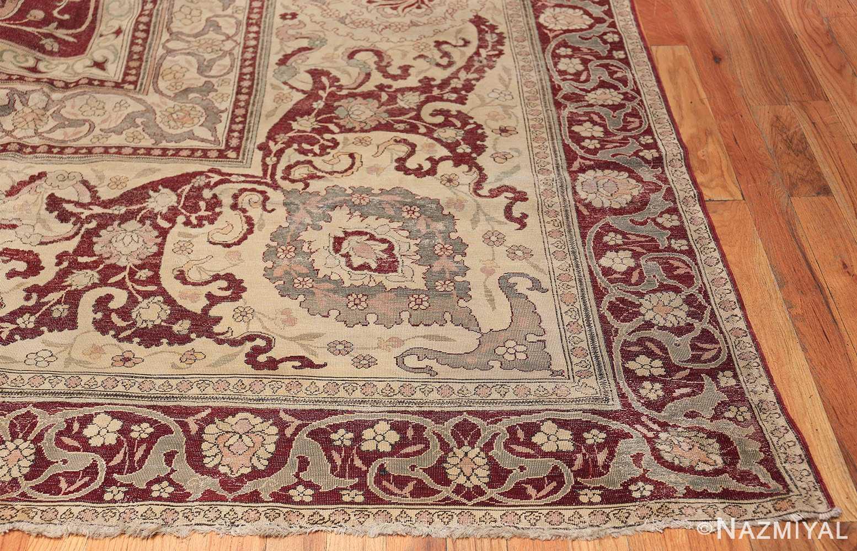 Antique Turkish Hereke Rug 45620 Side Corner Nazmiyal