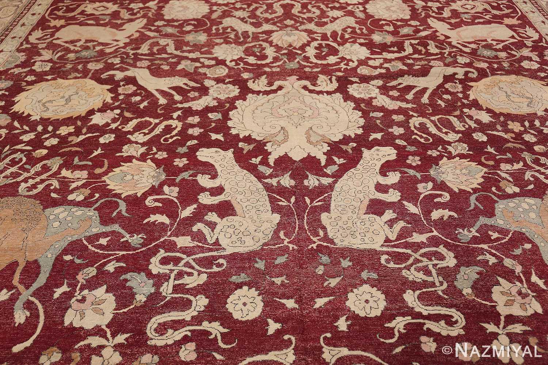 Antique Turkish Hereke Rug 45620 Upper Pattern Nazmiyal