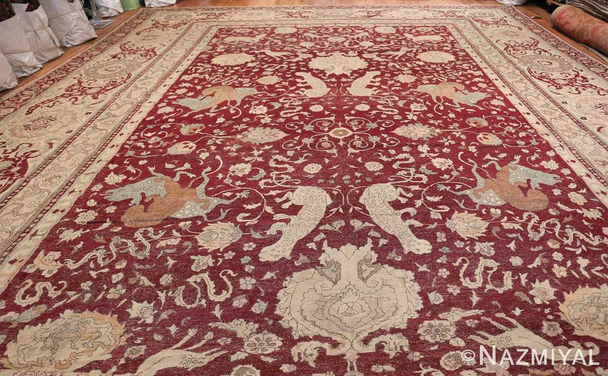 Antique Turkish Hereke Rug 45620 Whole Design Nazmiyal