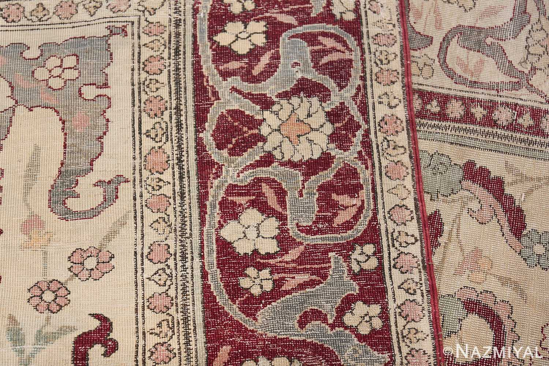 Antique Turkish Hereke Rug 45620 Woven Knots Nazmiyal
