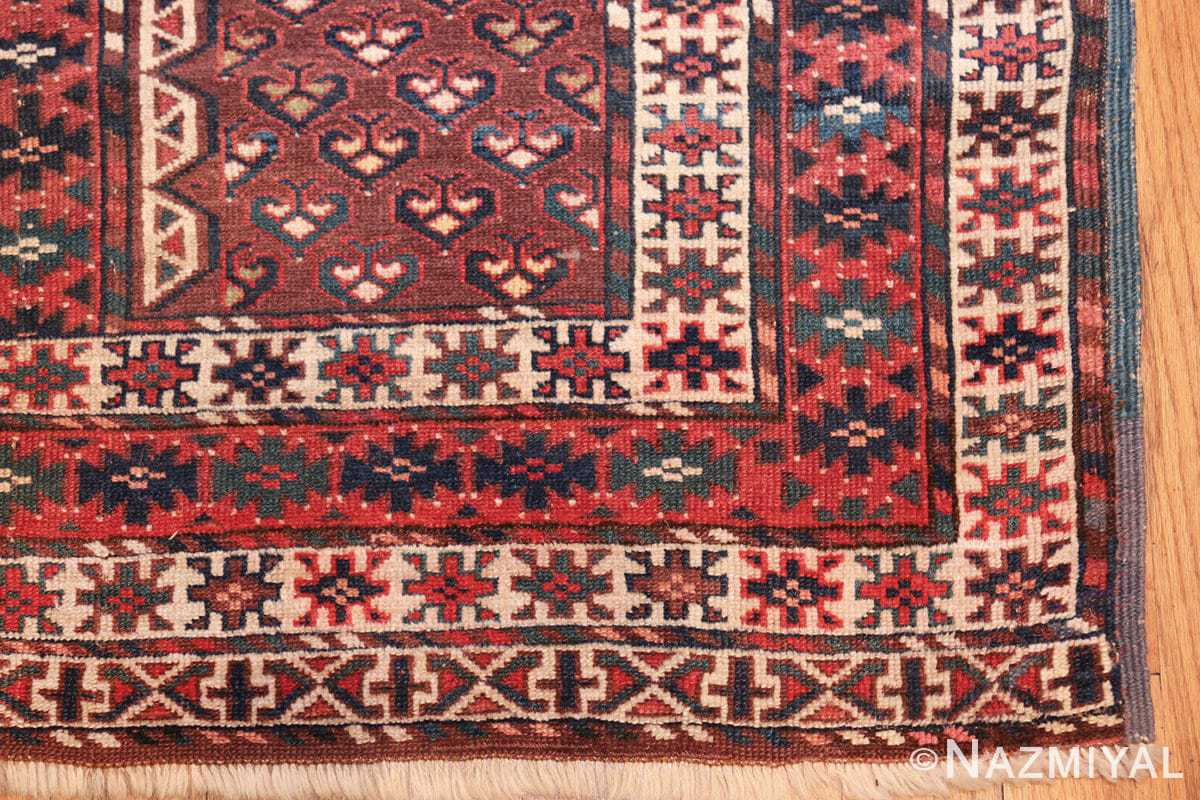 antique west turkestan yomut rug 47068 corner Nazmiyal