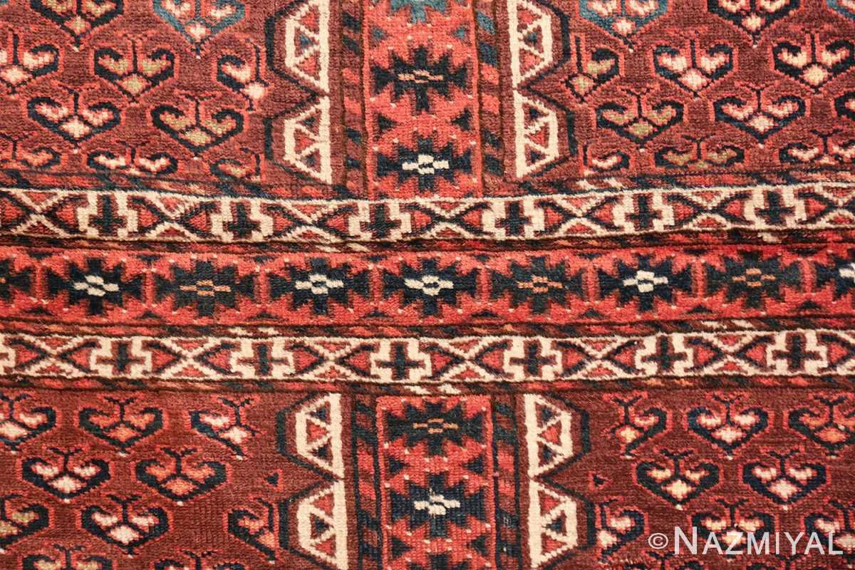 antique west turkestan yomut rug 47068 cross Nazmiyal