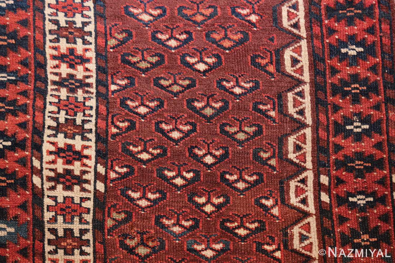 antique west turkestan yomut rug 47068 heart Nazmiyal