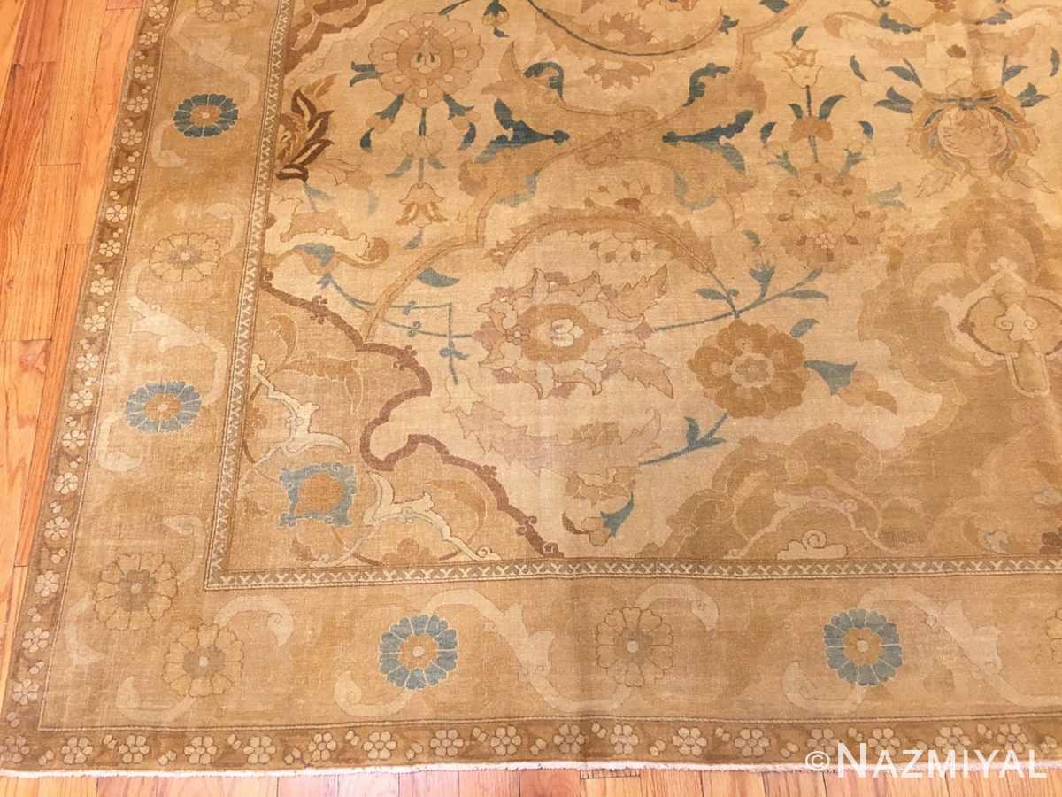 Corner Antique Persian Polonaise Design Tabriz rug 45767 by Nazmiyal