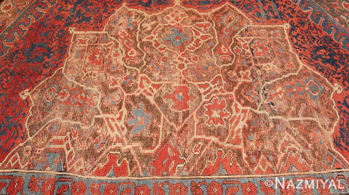 Detail Large Turkish Oushak Smyrna rug 47072 by Nazmiyal
