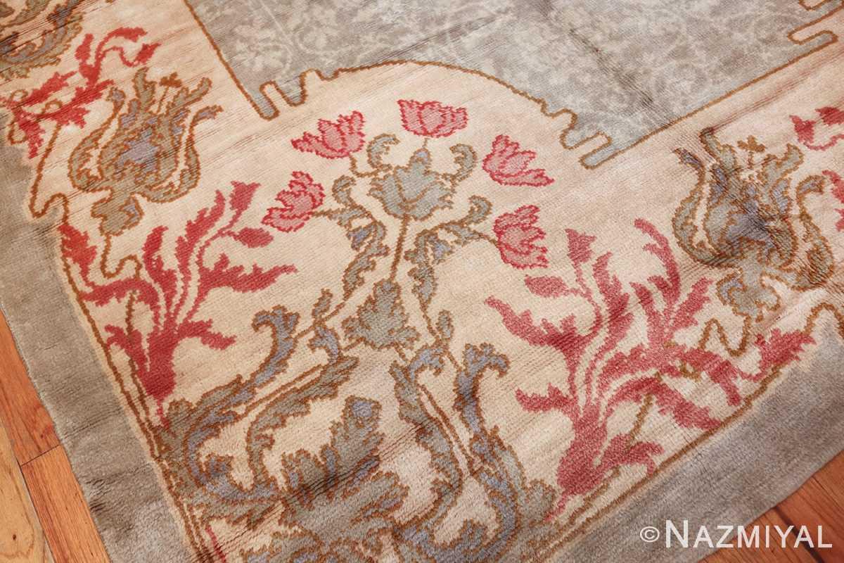 french art nouveau leleu rug 47075 flower Nazmiyal