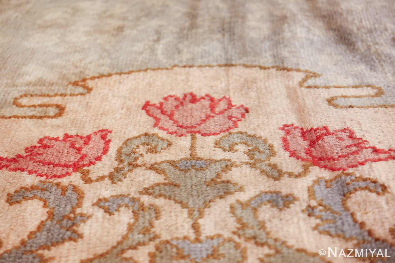 french art nouveau leleu rug 47075 roses Nazmiyal