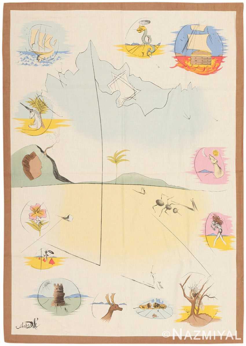 Vintage French Salvador Dali Tapestry 12 Tribes of Israel Nazmiyal