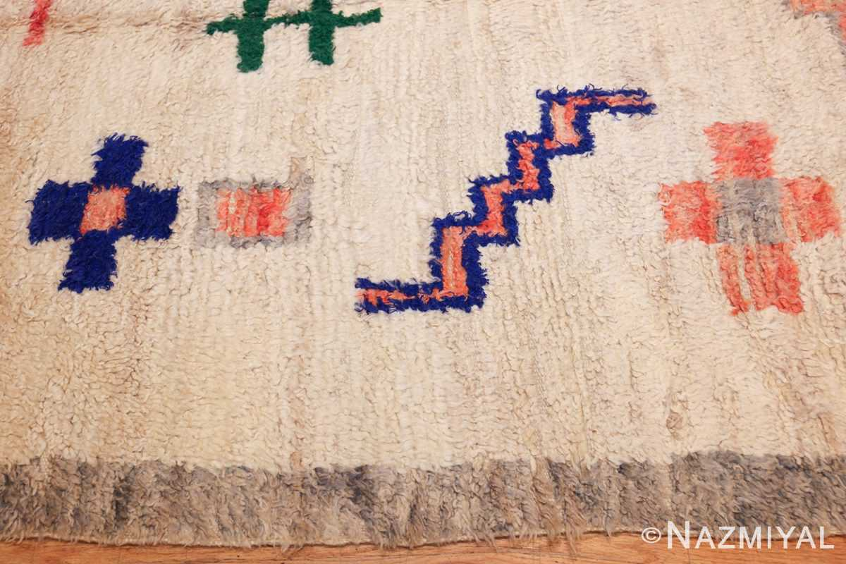 vintage moroccan rug 47098 border Nazmiyal