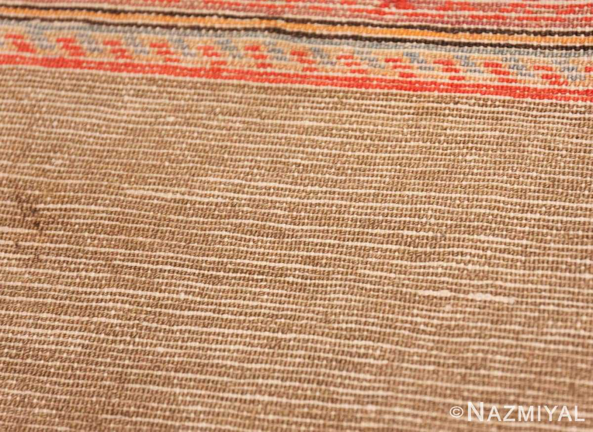 Weave detail Antique Persian Malayer rug 47050 by Nazmiyal