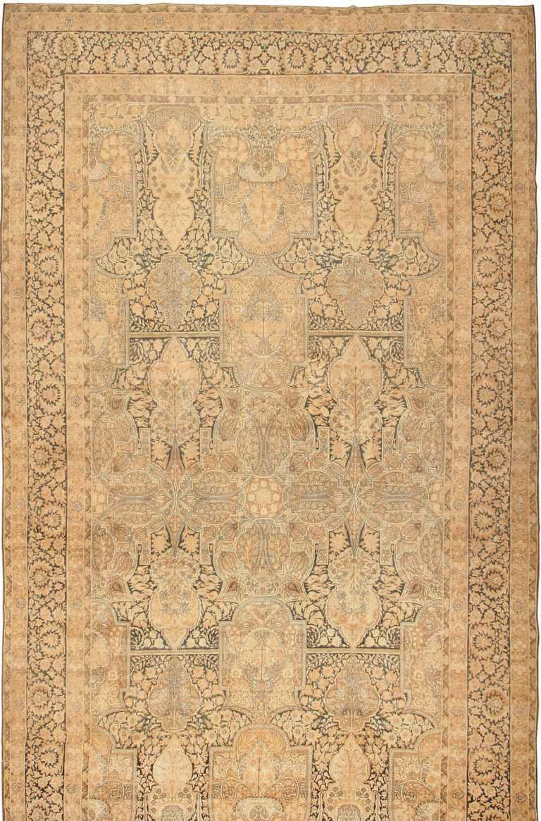Oversized Antique Oriental Persian Kerman Rug 42703 Nazmiyal
