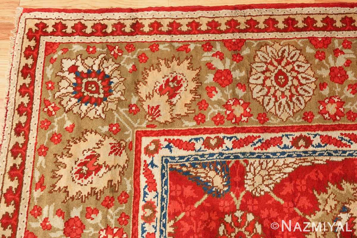 antique arts and crafts donegal irish rug 47137 corner Nazmiyal