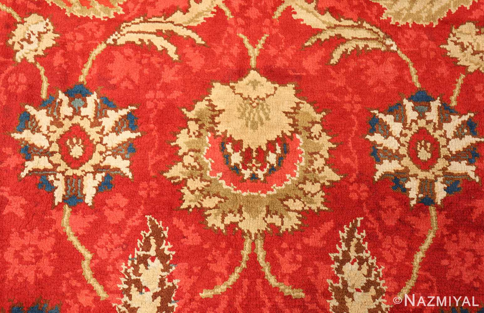 antique arts and crafts donegal irish rug 47137 corner Nazmiyal