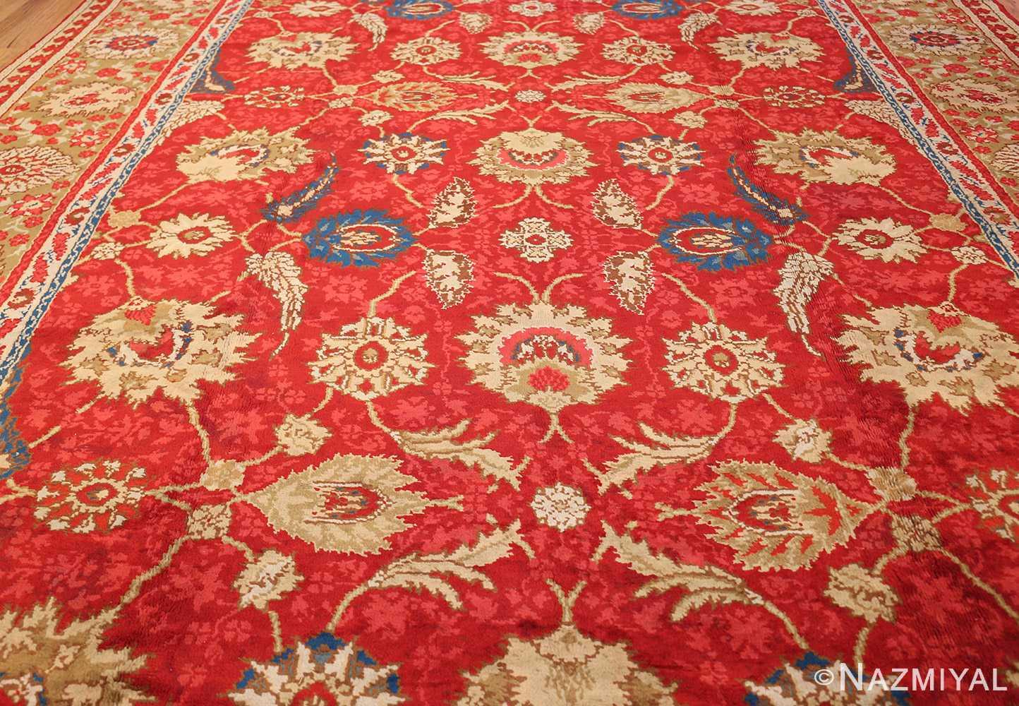 antique arts and crafts donegal irish rug 47137 field Nazmiyal