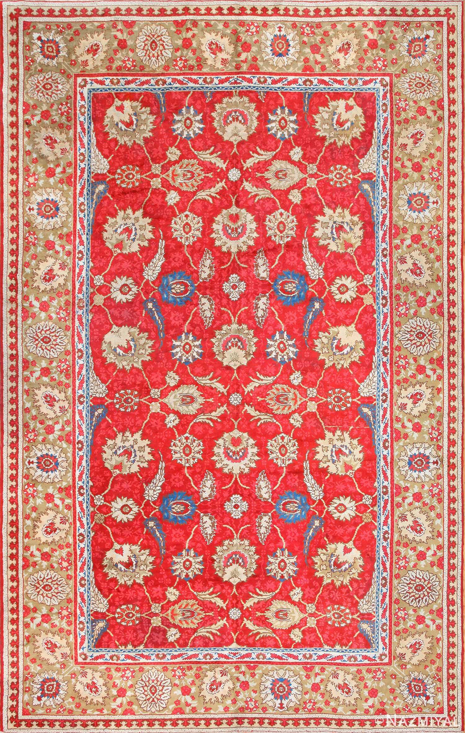 antique arts and crafts donegal irish rug 47137 Nazmiyal