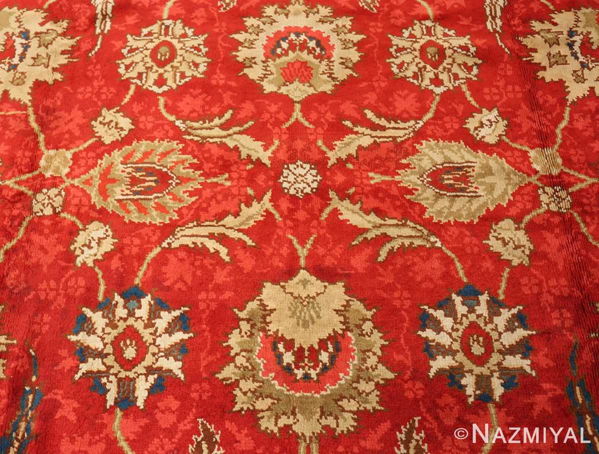antique arts and crafts donegal irish rug 47137 side Nazmiyal